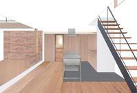 アイランドキッチンのあるダイニング - atelier kukka architects