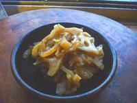 レンコンと玉ねぎのソース炒め - LEAFLabo