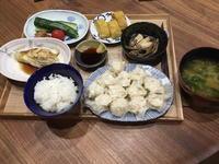 【献立】手作りしゅうまい、焼き茄子、冷やしきゅうりに味噌、厚焼き玉子、ぜんまいと油揚げの煮物、間引き菜のお味噌汁 - kajuの■今日のお料理・簡単レシピ■