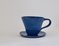 海碧色のカップ&ソーサー - ぼちぼち
