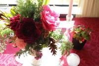 クリスマス🎄✨テーブルのお花 - Bouquets_ryoko