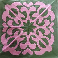 キラキラ糸で… - ほっと一息・・~Sakura's Hawaiian QuiltⅡ