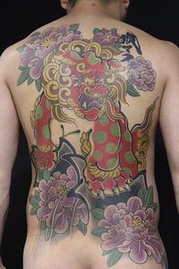 唐獅子牡丹◎ - 兵庫県 神戸 明石 タトゥー 肌絵屋 福助