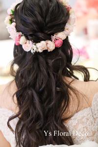 ピンク色の花冠 - Ys Floral Deco Blog