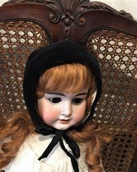 ドール用黒ビロードボネ - スペイン・バルセロナ・アンティーク gyu's shop