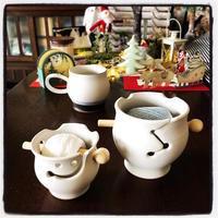レースヤーンボウルとクリスマスプレゼント。 - 『 紙とえんぴつ。』 kamacosan. 糸とビーズのアクセサリー