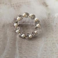 真珠のサークル型ブローチ - vintage & antique スワロー商會