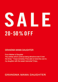 ☆・゚:*:゚名鉄百貨店SALE*:・'゚☆ - GRANDMA MAMA DAUGHTER OFFICIAL BLOG