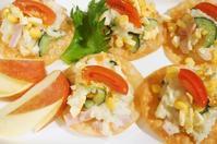 ■副菜お裾分け(2)【揚げ餃子の皮乗せポテトサラダ】 - 「料理と趣味の部屋」