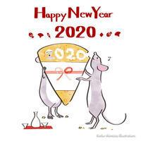 新年あけましておめでとうございます - 女性誌を中心に活動するイラストレーター ★★清水利江子の仕事ブログ