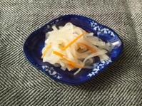 紅白なます、里芋のスパイス焼き、海老のスパイシー焼き - Minha Praia