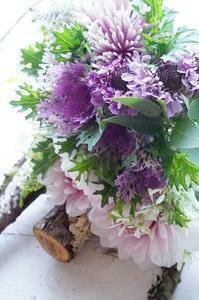 ブーケ専科初回レッスン、自分も勉強 - お花に囲まれて