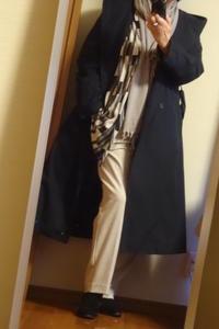 去年バーゲンで買ったコートを初めて着て外出 - おしゃれ自己満足日記