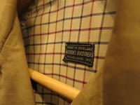 """""""BROOKS BROTHERS TRENCH COAT MADE IN ENGLAND #IVYFAIR""""ってこんなこと。 - THE THREE ROBBERS ってこんなこと。"""