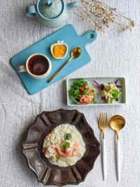 えびリゾット朝ごはん - 陶器通販・益子焼 雑貨手作り陶器のサイトショップ 木のねのブログ