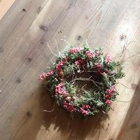 お嫁に行ったリースたち「去年」のクリスマスのコト!編 - ドライフラワーギャラリー⁂ふくことカフェ