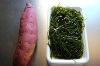 さつま芋と切り昆布と豚まん - 満足満腹  お茶とごはん