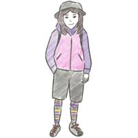 ハイキング - たなかきょおこ-旅する絵描きの絵日記/Kyoko Tanaka Illustrated Diary