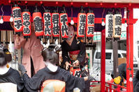 「新春はしご乗りと初春の舞」東京都八王子市2020 - 暢気(のんき)おやじ
