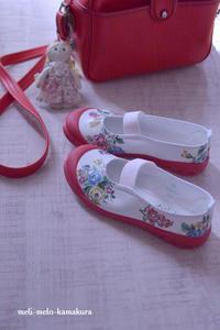 ◆デコパージュ*幼稚園さいごの上履き - フランス雑貨とデコパージュ&ギフトラッピング教室 『meli-melo鎌倉』