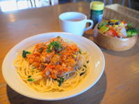いろいろ野菜のミートソース:けや木(弘前市) - 津軽ジェンヌのcafe日記