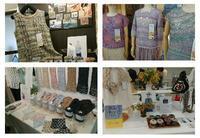 2020春夏糸の展示会 - 空色テーブル  編み物レッスン