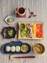 豚しゃぶ朝ごはん - 陶器通販・益子焼 雑貨手作り陶器のサイトショップ 木のねのブログ