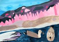 エコ絵画コンクールの作品を制作しました。2 - 大﨑造形絵画教室のブログ