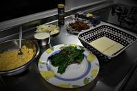 茹でないドリアの生地で「ほうれん草のドリア」を焼いてみる・・。 - 今夜の夕食
