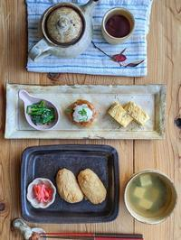 おいなりさん朝ごはん - 陶器通販・益子焼 雑貨手作り陶器のサイトショップ 木のねのブログ