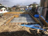 須坂の曲り家の配筋検査 - 安曇野建築日誌