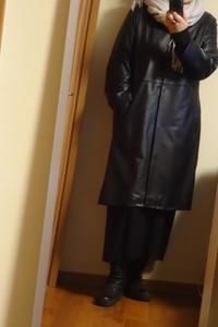 レザーコートの着画 - おしゃれ自己満足日記