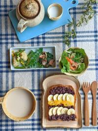 あんバナナトースト朝ごはん - 陶器通販・益子焼 雑貨手作り陶器のサイトショップ 木のねのブログ