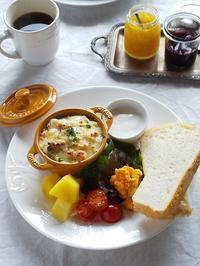 鮭ときのこの山芋グラタンでワンプレートランチ♪ - キッチンで猫と・・・