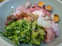 鶏いろいろ6日目うずら卵焼き芋 - ワンワンディッシュ ごちそうさま