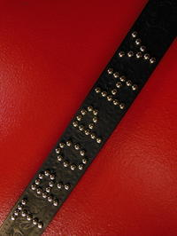 """TROPHY""Lettered studded belts for TROPHY CLOTHING by RAWHIDE, - ROCK-A-HULA Vintage Clothing Blog"
