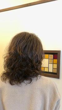 明るめ白髪染めとふんわりパーマ - 観音寺市 美容室 accha