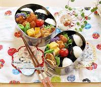 おにぎりとチキンカツ弁当♪ - ☆Happy time☆