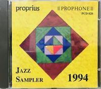 """♪723 Various """" Proprius Jazz Sampler 1994 """" CD 2020年1月23日 - 侘び寂び"""