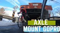 ロードバイクの自転車ホイールシャフトにGoPro8を取り付けてローアングルからの映像 - アメリカを自転車でエンジョイ