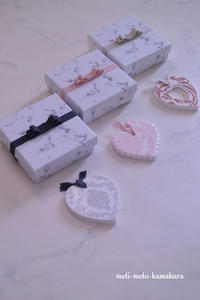 ◆デコパージュ*バレンタイン期間限定!ハートのアロマストーンを販売します - フランス雑貨とデコパージュ&ギフトラッピング教室 『meli-melo鎌倉』