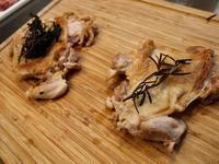 Syuでチキンソテーにハーブの風味をつけるワークショップ開催しました。 - 農場長のぼやき日記