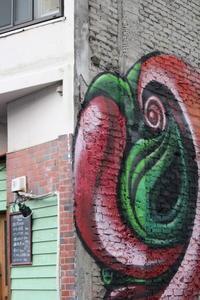 壁アート - 猪こっと猛進