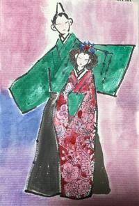 おひなさまのハガキ絵 no2 - ギャラリーとーちきの夢布布日記