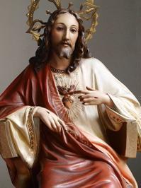 王であるキリスト 坐像 56m /G860 - Glicinia 古道具店
