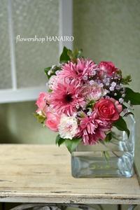 ガーベラ「イギー」を使った送別の花束。 - 花色~あなたの好きなお花屋さんになりたい~