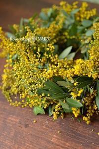 【2月フラワーレッスンのお知らせ】ミモザリース - 花色~あなたの好きなお花屋さんになりたい~