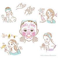 サンキュ!3月号---美容イラスト - 女性誌を中心に活動するイラストレーター ★★清水利江子の仕事ブログ