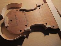 ヴァイオリン製作は、Fascieは接着します。 - Cremona Kuga Violino ・・・久我ヴァイオリン工房 製作日記 Caffè o tè?