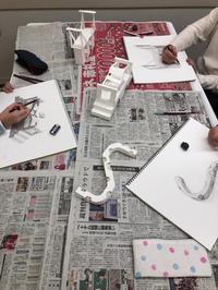 友遊カルチャー、2月の学生のためのデッサン講座。 - 大﨑造形絵画教室のブログ